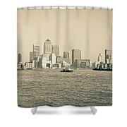 Canary Wharf Cityscape Shower Curtain