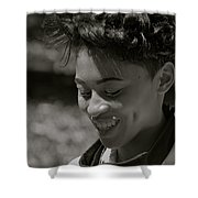 Candid Smile Shower Curtain