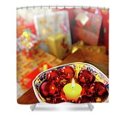 Candle And Balls Shower Curtain