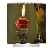 Candle And Colored Glass Shower Curtain