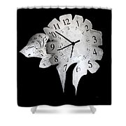 Candle Clock Shower Curtain