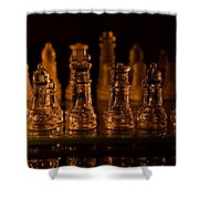 Candle Lit Chess Men Shower Curtain