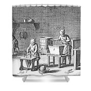 Candlemaking, 18th Century Shower Curtain