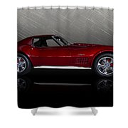 Candy Apple Corvette Shower Curtain