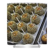 Candy Apples Shower Curtain