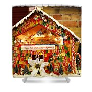 Candy Gingerbread House Shower Curtain