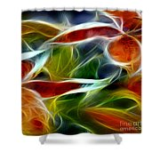 Candy Lily Fractal Panel 2 Shower Curtain