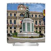 Cannes City Hall Shower Curtain