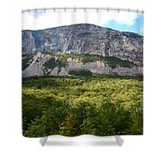Cannon Cliff From Boise Rock New Hampshire Shower Curtain