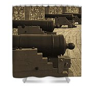 Cannons At Louisberg Fortress Shower Curtain