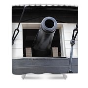 Cannons Uss Constellation  Shower Curtain