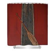 Canoe And Oar Shower Curtain