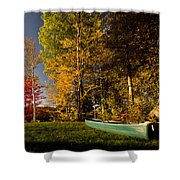 Canoe Shower Curtain by Cale Best