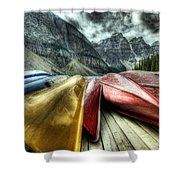 Canoes 2 Shower Curtain