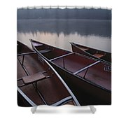 Canoes On Still Water Shower Curtain