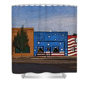 Canon City Facades - Posterized Shower Curtain