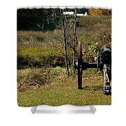 Canon Fire Color Shower Curtain