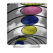 Canopy Black And White Abstract Shower Curtain