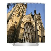 Canterbury Cathedral, Low Angle View Shower Curtain