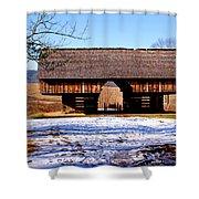 Cantilever Barn Shower Curtain