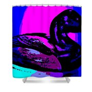 Canvasback Floating At Sunrise Shower Curtain