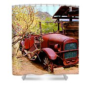 Canyon Creek Ranch Transportation Shower Curtain