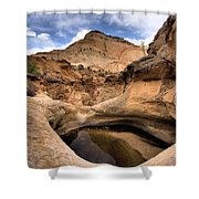 Canyon Pool Shower Curtain