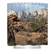 Canyon Trail Overlook Shower Curtain