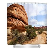 Canyonlands Needles Trail Shower Curtain