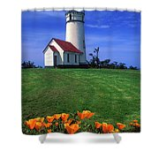 Cape Blanco Lighthouse Oregon Shower Curtain