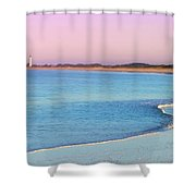 Cape May Light House Panorama Shower Curtain