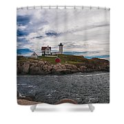 Cape Neddick Light Station Shower Curtain