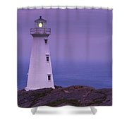 Cape Spear Lighthouse At Twilight, Cape Shower Curtain