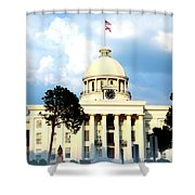 Capitol Building In Montgomery Shower Curtain
