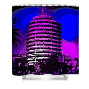 Capitol Records Building Shower Curtain