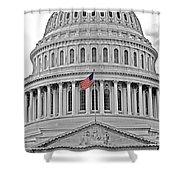 Capitol With Flag Shower Curtain