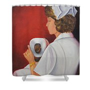 Capping A Tradition Of Nursing Shower Curtain