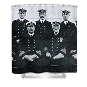 Captain And Officers Of The Titanic Shower Curtain