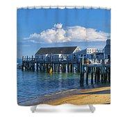 Captain Jack's Wharf Shower Curtain