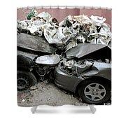 Car Crash In Cairo Shower Curtain