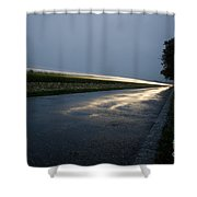 Car Lights At Night Shower Curtain