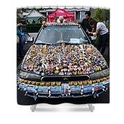 Car Of Teeth Shower Curtain