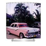 Car Show At The Resort Shower Curtain