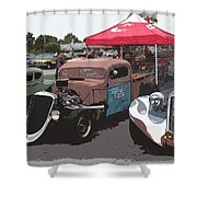 Car Show Hot Rods Shower Curtain