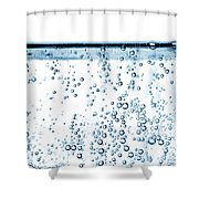 Carbonated Water Shower Curtain by Photo Researchers, Inc.