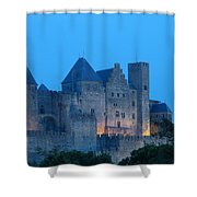 Carcassonne At Twilight Shower Curtain