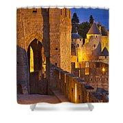 Carcassonne Ramparts Shower Curtain