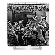 Card Company Trade Card Shower Curtain