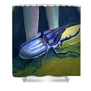 Card Of Nosey Bug Shower Curtain