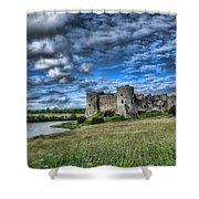 Carew Castle Pembrokeshire 3 Shower Curtain